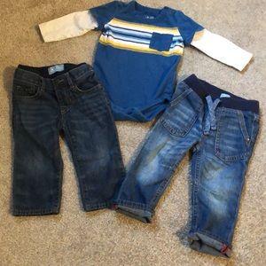 Gap Jeans & Long Sleeve Onesie